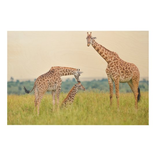 Getty Images | Giraffe Family Wood Wall Decor