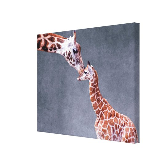 Getty Images | Mother & Baby Giraffe Canvas Print