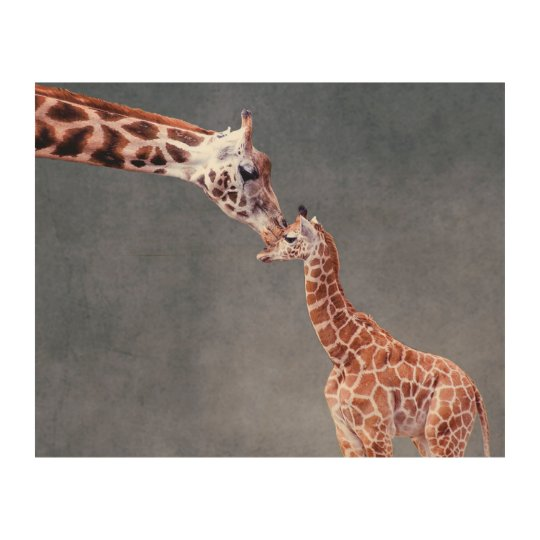 Getty Images | Mother & Baby Giraffe Wood Wall Art