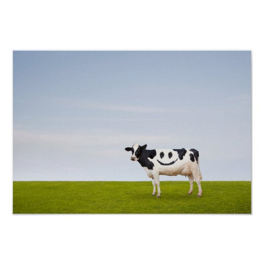 Getty Images | Smiley Face Cow Poster