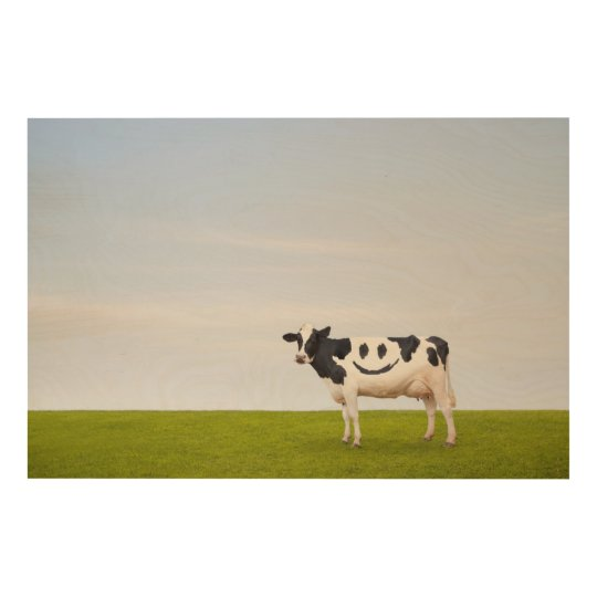 Getty Images   Smiley Face Cow Wood Wall Art