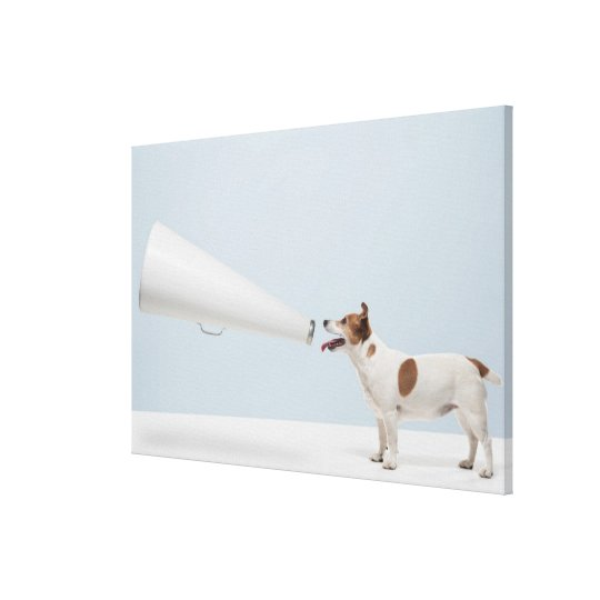 Getty Images   Speaking Dog Canvas Print
