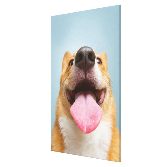 Getty Images | Very Happy Corgi Canvas Print