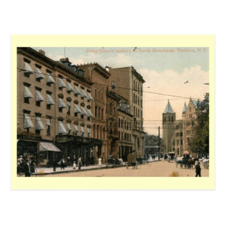 Getty Square, Yonkers, New York Vintage Postcard