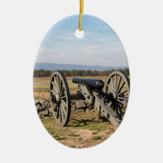 Gettysburg: A view of Pickett's Charge Ceramic Ornament