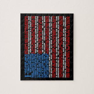 Gettysburg Address Jigsaw Puzzle