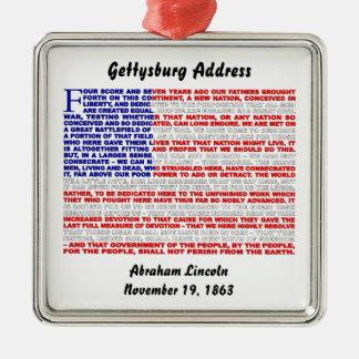 Gettysburg Address Metal Ornament
