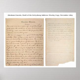 Gettysburg Address Nicolay Copy (1863) Poster