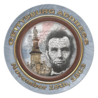 Gettysburg Address Party Plate