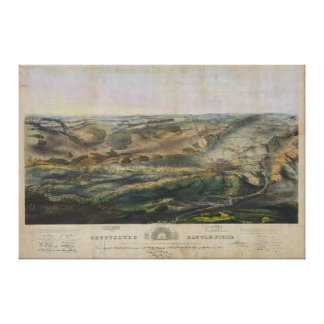 Gettysburg Battlefield by John Bachelder 1863 Canvas Print