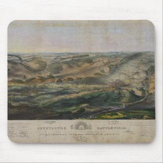 Gettysburg Battlefield by John Bachelder 1863 Mousepads