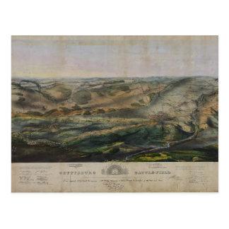 Gettysburg Battlefield by John Bachelder 1863 Postcard