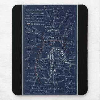 Gettysburg Battlefield Civil War Map (1863) Mouse Pad