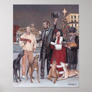 Gettysburg Christmas II Greyhound Dog Art Print