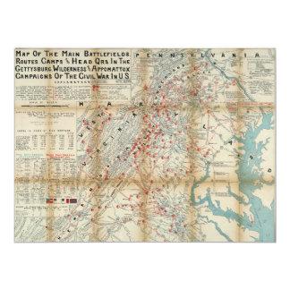 Gettysburg, Wilderness & Appomattox Civil War Map Card