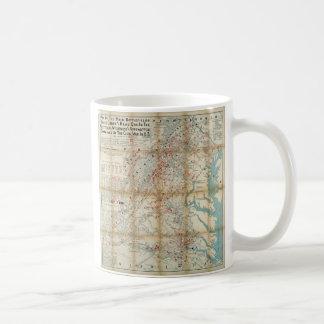 Gettysburg, Wilderness & Appomattox Civil War Map Coffee Mug