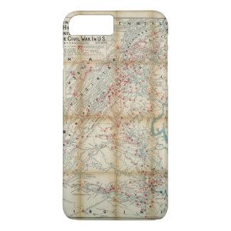 Gettysburg, Wilderness & Appomattox Civil War Map iPhone 7 Plus Case