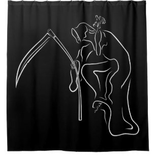 Gevatter Godfather Grim Hip Hop Shower Curtain