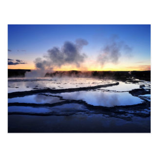Geyser Smoke at Sunset Postcard