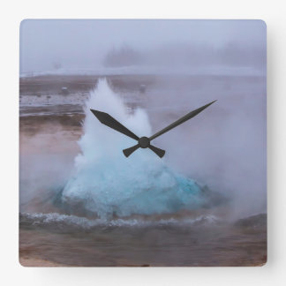 Geysir (hot spring) in Iceland Wall Clocks