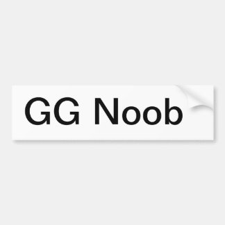 GG Noob Bumper Sticker