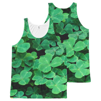 ggreen clovers Patrick's day All-Over Print Singlet