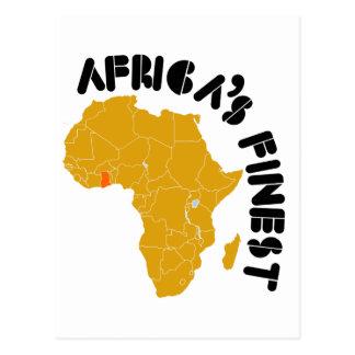 Ghana, Africa's Finest map of Africa Postcard