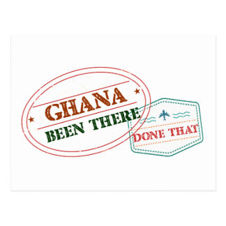 Ghana Been There Done That Postcard