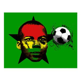 Ghana Black Stars Soccer Africa Postcard