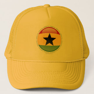 Ghana Bubble Flag Trucker Hat