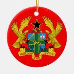 GHANA Ceramic Christmas Ornament