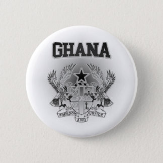 Ghana Coat of Arms 6 Cm Round Badge