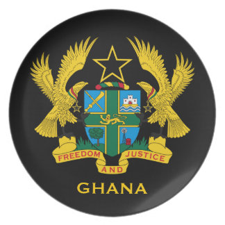 Ghana* Coat of Arms Collector's Party Plates