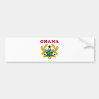 Ghana Coat Of Arms Designs Bumper Sticker