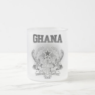 Ghana Coat of Arms Frosted Glass Coffee Mug