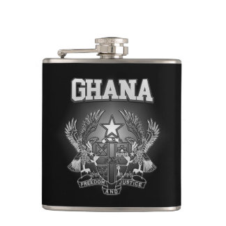 Ghana Coat of Arms Hip Flask
