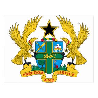 Ghana Coat of Arms Postcard