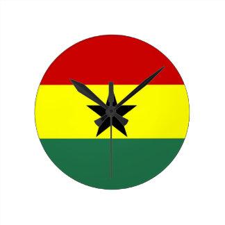 ghana country flag clock
