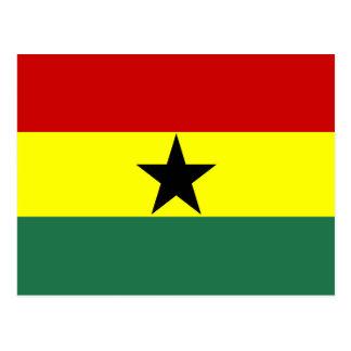 Ghana country long flag nation symbol republic postcard