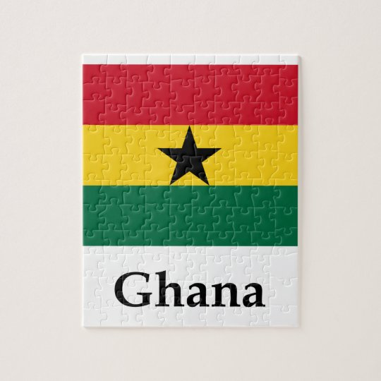Ghana Flag And Name Jigsaw Puzzle