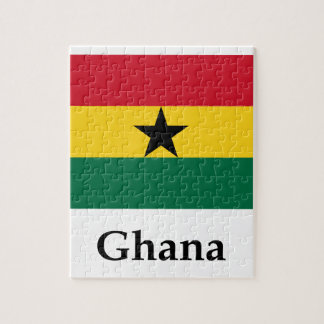Ghana Flag And Name Puzzles