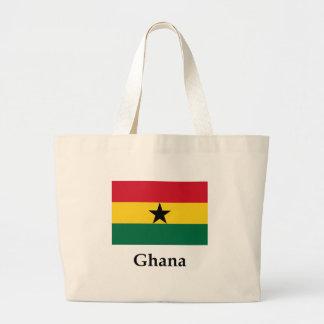 Ghana Flag And Name Jumbo Tote Bag