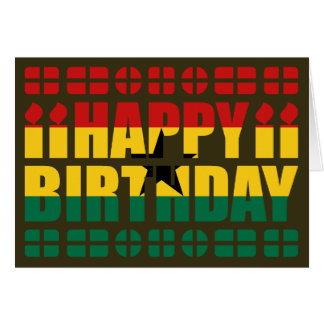 Ghana Flag Birthday Card