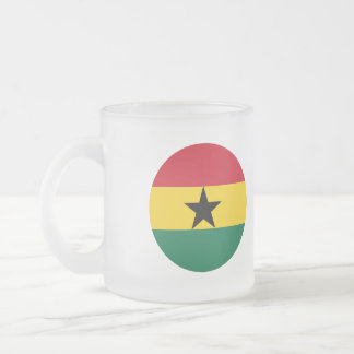 Ghana Flag Frosted Glass Coffee Mug