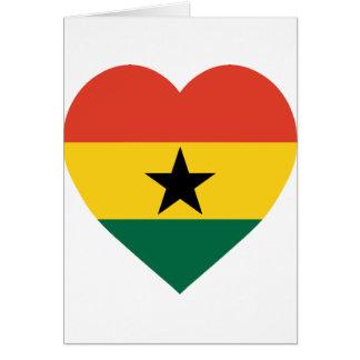 Ghana Flag Heart Card