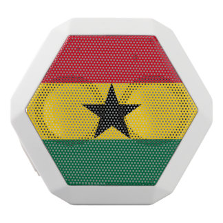 Ghana Flag White Bluetooth Speaker