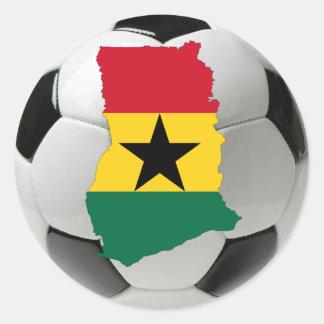 Ghana football soccer classic round sticker