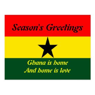 Ghana happy holidays postcards
