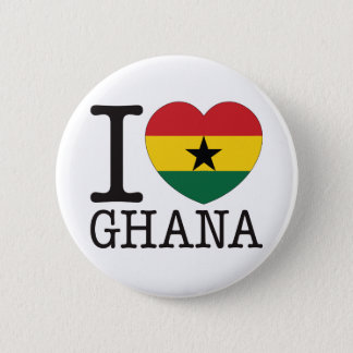 Ghana Love v2 6 Cm Round Badge