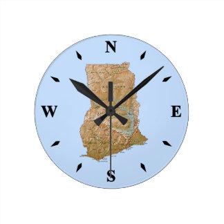 Ghana Map Clock
